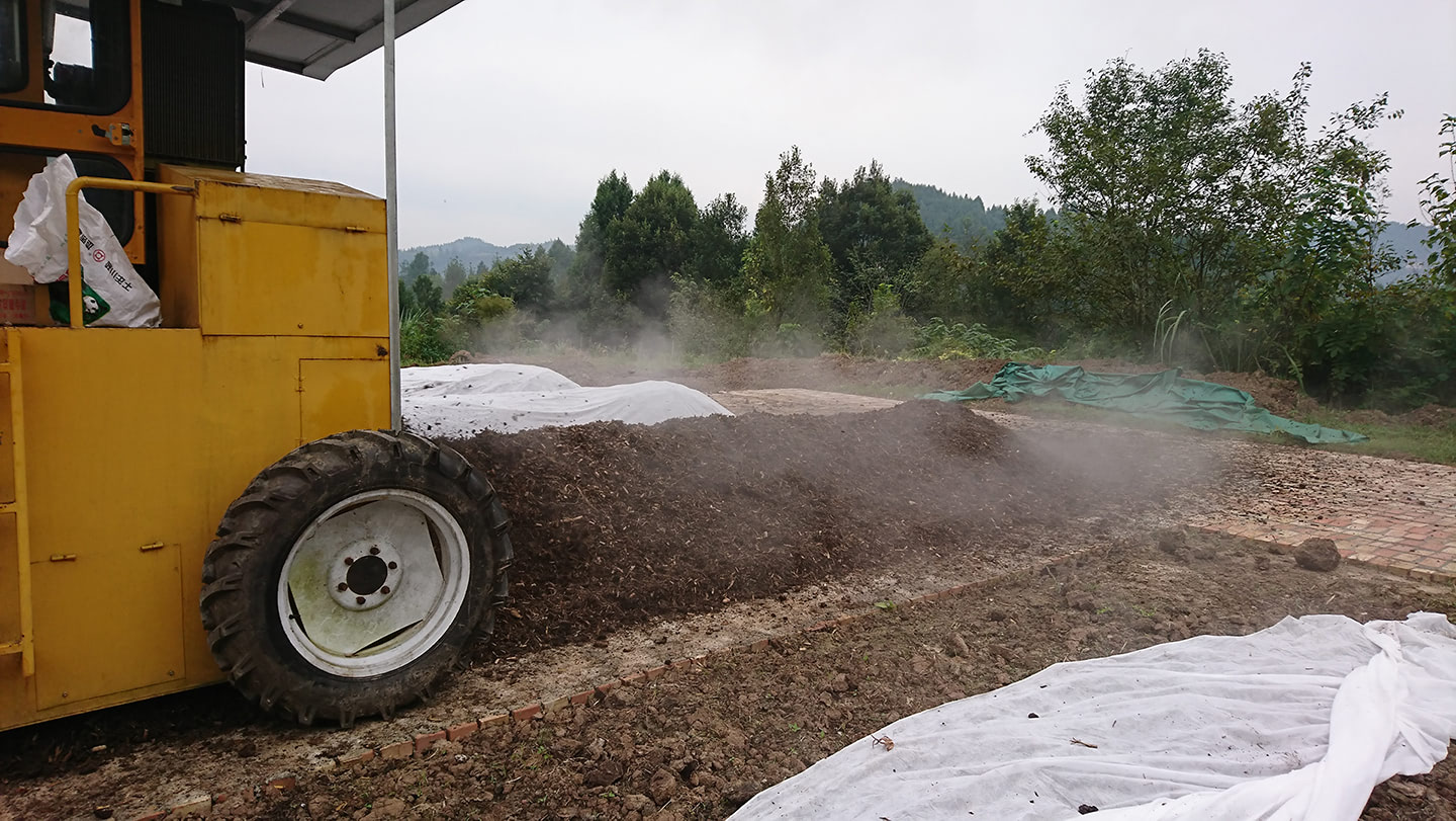 turning compost professionally